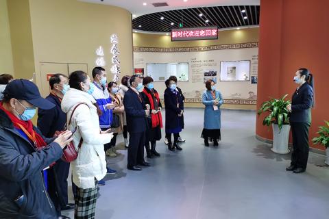 北京总部基地博物馆,开工新气象,春意盎然迎贵宾