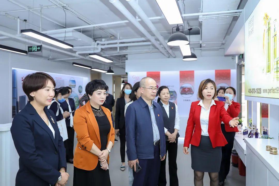 北京市东城区委副书记、统战部部长汤钦飞莅临完美北京分公司调研指导