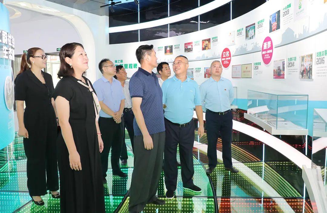湖南省市场监督管理局副局长丁珍良一行莅临绿之韵调研